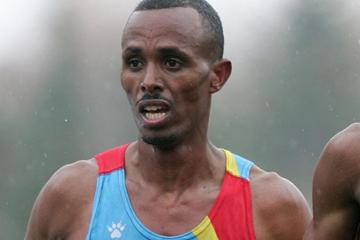 Yonas Kifle of Eritrea at the 2005 World Half Marathon Championships (Getty Images)