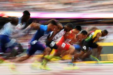 Runners in the second semi-final of the men's 100m at the IAAF World Championships London 2017 (Getty Images)