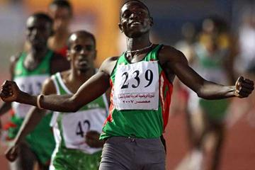 Abubaker Kaki of Sudan wins the 1500m at the 11th Pan Arab Games in Cairo, 24 November 2007. (AFP / Getty Images)