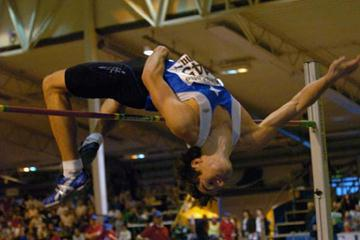 Linus Thörnblad clears 2.31 in Malmo's National Indoor Champs (Hasse Sjören)