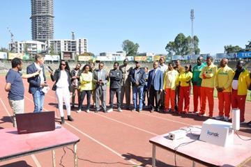IAAF Health & Science Department Director Stéphane Bermon interviewed at Addis Ababa Stadium (Ethiopian Athletics Federation)