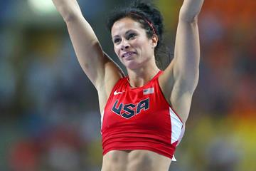 USA's Jenn Suhr at the 2013 IAAF World Championships in Moscow (Getty Images)