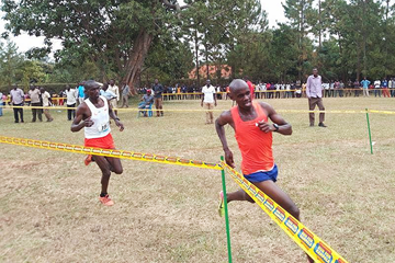 Jacob Kiplimo on his way to winning at the Ugandan Cross Country Championships (Uganda Athletes Forum)