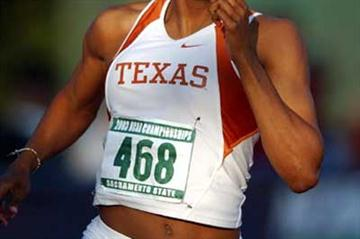 Sanya Richards of Texas, women's 400m NCAA winner. (Kirby Lee)