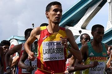 Ayad Lamdassem in action at the IAAF World Championships (Getty Images)