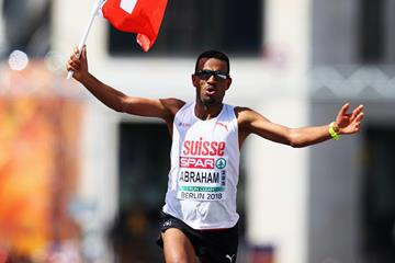 Tadesse Abraham on his way to European marathon silver in Berlin (Getty Images)