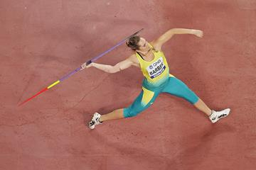 Kelsey-Lee Barber in the javelin at the IAAF World Athletics Championships Doha 2019 (Getty Images)