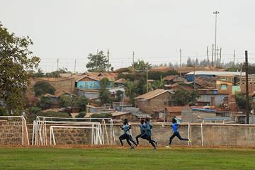 Athletes training at the Tegla Loroupe Training Camp for Refugee Athletes in Ngong (Getty Images)
