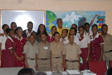 Veronica Campbell Brown with the participants of Dignity Day in Montego Bay, Jamaica (Freelance)