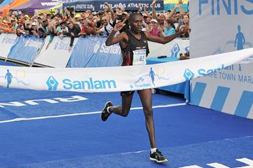 Shadrack Kemboi wins the Cape Town Marathon (Organisers)