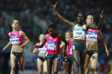 Olympic champion Nancy Jebet Langat takes a surprise win in the women's 1500m (Getty Images)