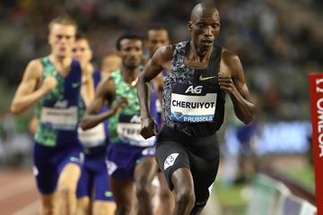 Timothy Cheruiyot in command in Brussels (Giancarlo Colombo)