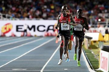 .Kumari Taki winning the boys' 1500m at the IAAF World Youth Championships, Cali 2015 (Getty Images)