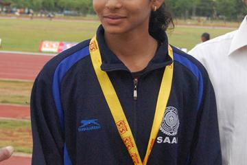 New Indian national youth 200m record holder G. Mounika (organisers)