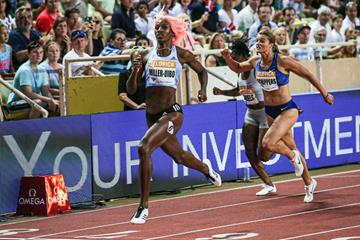 Shaunae Miller-Uibo wins the 200m at the IAAF Diamond League meeting in Monaco (Philippe Fitte)