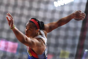Yaime Perez, discus throw champion at the IAAF World Athletics Championships Doha 2019 (AFP/Getty Images)