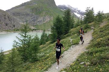 Filimon Abraham on his way to winning the Grossglockner Berglauf in Heiligenblut, Austria (WMRA)