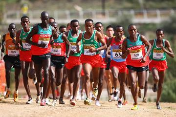 Leaders in the senior men's race (Getty Images)
