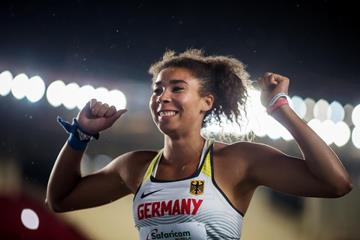 Selina Dantzler, winner of the shot put at the IAAF World U18 Championships Nairobi 2017 (Getty Images)