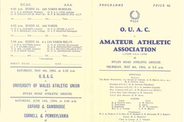 First sub-4 mile: official programme (IAAF)