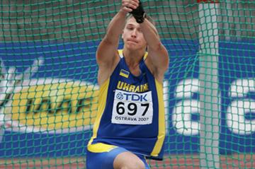 Andriy Martynyuk of Ukraine during the Hammer Throw qualification (Getty Images)