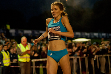 Beth Potter wins the British 10,000m title (Jon Mulkeen)