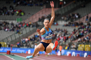 Ivana Spanovic in the long jump at the IAAF Diamond League final in Brussels (Gladys Chai von der Laage)