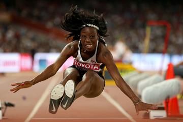 Christabel Nettey in the long jump at the IAAF World Championships Beijing 2015 (Getty Images)