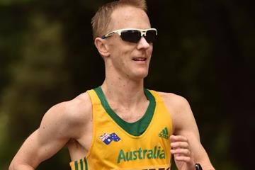 Jared Tallent in action at the IAAF World Race Walking Team Championships Rome 2016 (Getty Images)