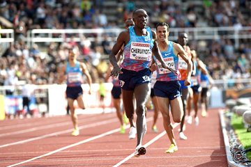 Timothy Cheruiyot wins the 1500m at the IAAF Diamond League meeting in Stockholm (Hasse Sjogren)