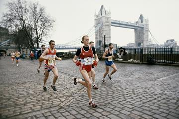 Grete Waitz in action at the 1983 London Marathon (Getty Images)
