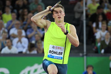Thomas Rohler in action at the IAAF Diamond League meeting in Zurich (Jean-Pierre Durand)