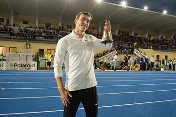 Sergey Shubenkov after winning the 110m hurdles in Padua (Organisers)