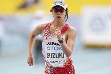 Japanese race walker Yusuke Suzuki at the IAAF World Championships (Getty Images)