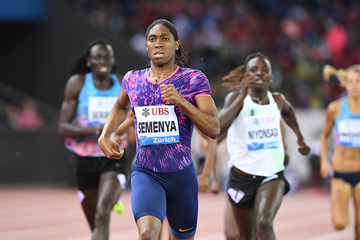 Caster Semenya wins the 800m at the IAAF Diamond League final in Zurich (Jiro Mochizuki)