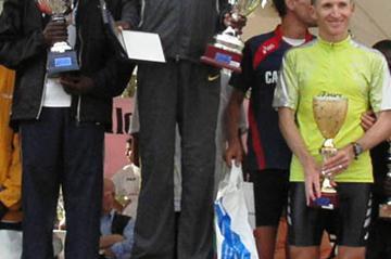 Paul Kosgei after his second win at Amatrice-Configno (Alberto Zorzi)