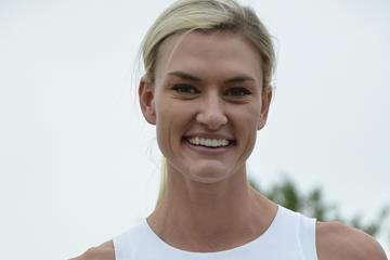 Annie Kunz after winning the heptathlon at the Multistars IAAF Combined Events Challenge meeting in Lana (Daniele Morandi)