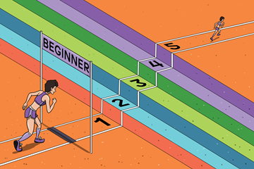 A beginner runner (Christel Saneh)