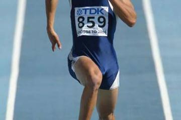 Andre Silva of Uruguay in action in the men's Decathlon (Getty Images)