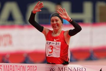Winner Albina Mayorova of Russia (Kazuo Tanaka/Agence SHOT)