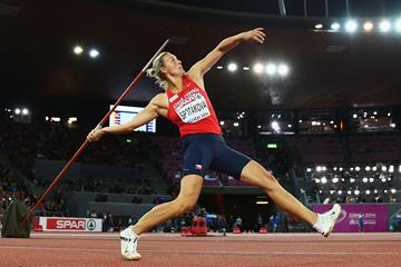 Barbora Spotakova on her way to winning European javelin gold in Zurich (Getty Images)
