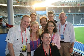 IAAF Website written editorial team in Berlin 2009 , 23 Aug (Jill M Geer)