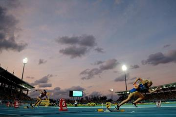Heats of the women's 4x100m at the IAAF/BTC World Relays, Bahamas 2015 (Getty Images)