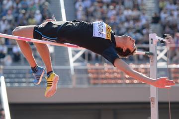 Bogdan Bondarenko jumps 2.40m in Tokyo (Getty Images)