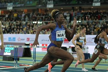 Nia Ali powers to victory in Lievin (Jean Pierre Durand)