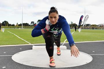 Valerie Adams in action at the Sir Graeme Douglas International (Getty Images)