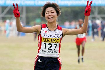 Kayoko Fukushi at the 2006 World Cross Country Championships in Fukuoka (AFP / Getty Images)