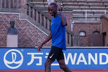 Timothy Cheruiyot on the eve of the 2020 Bauhaus-Galan meeting in Stockholm (Michelle Sammet)