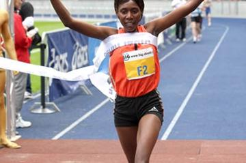 Peninah Arusei winning another Berlin 25k title (Victah Sailer)