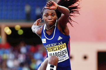 Caterine Ibarguen wins the triple jump at the IAAF Continental Cup Marrakech 2014 (Getty Images)